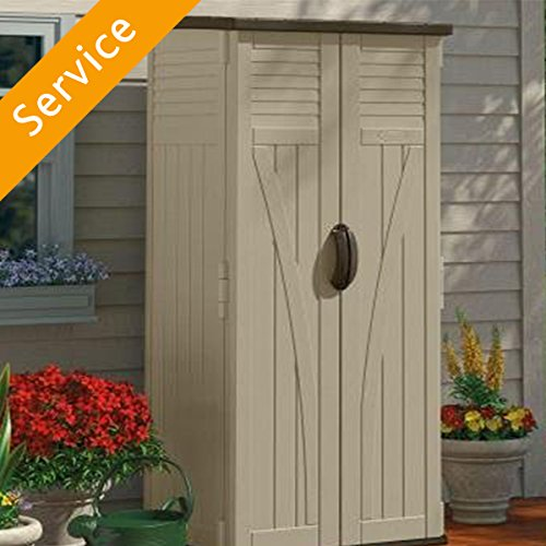 Metal or Vinyl Shed or Storage Box Assembly - up to 7'x5'