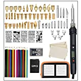 ILS – 94 piezas LCD bolígrafo de leña instrumentos Kit soldadura plantilla hierro 60 W Pirografía Soldar Set de hierro