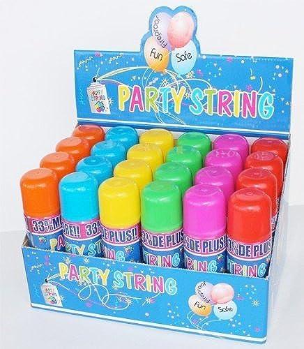 Con 100% de calidad y servicio de% 100. Party String - 96 Cans in Display Display Display Box - Not Silly String by Los Angeles Superstore  Sin impuestos