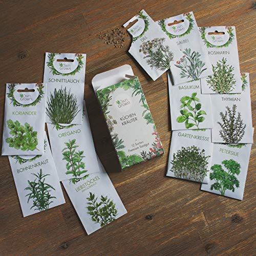 Kräuter Samen Set von OwnGrown, 12 Sorten Küchenkräuter als praktisches Kräutersamen Set, Gewürzsamen und Kräuterset für Küche und Balkon, 12er Box - 4