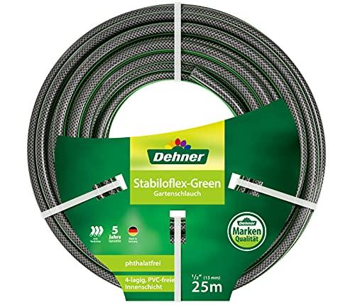 Dehner Gartenschlauch Stabiloflex, Ø 13 mm, Länge 25 m, 1/2 Zoll, Kunststoff, grün