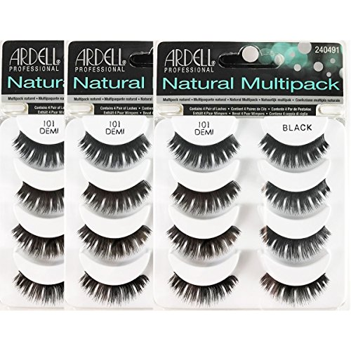 (3 Pack) ARDELL Professional Natural Multipack - 101 Black