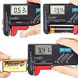 Testeur de piles universel BT-168D de Hapurs - Affichage digital - Pour AA, AAA, C, D, 9V et pile bouton 1.5V, battery tester