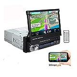1 DIN 7 Pulgadas 1080P Reproductor de Radio estéreo para automóvil Pantalla táctil LCD Soporte Bluetooth Manos Libres
