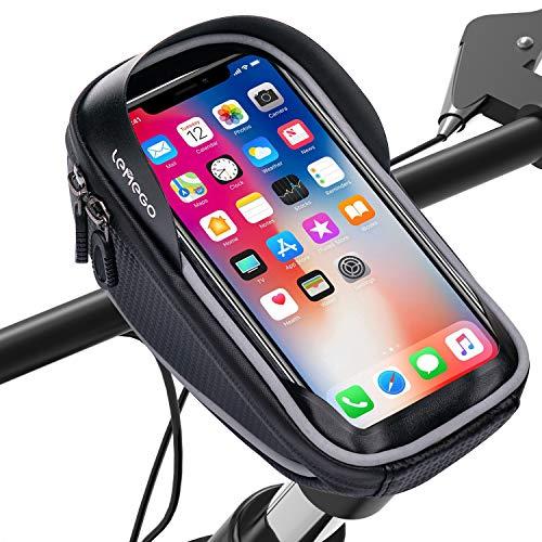 LEMEGO Wasserdicht Fahrradlenkertasche Handyhalterung Handyhalter Fahrrad Tasche Fahrradtasche Rahmentaschen für Handy GPS Navi und andere Edge bis zu 6 Zoll Geräte - 6