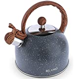 Tea Kettle, 2.3 Quart Tea Pot BELANKO Whistling Water Kettle, Food Grade Stainless Steel Teapot for...