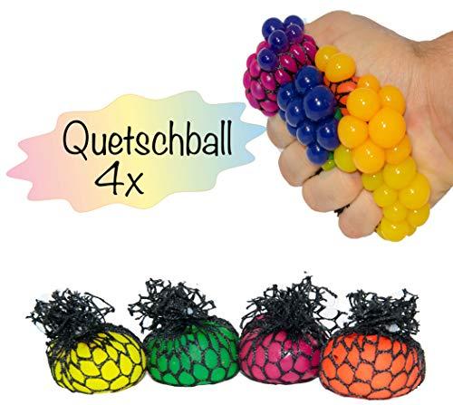 L+H 4X Anti-Stress-Ball Quetschball 5 cm Durchmesser | für Kinder und Erwachsene | Knetball Squeeze Toy im Netz | hochwertig verarbeitet | geeignet für das Büro und unterwegs