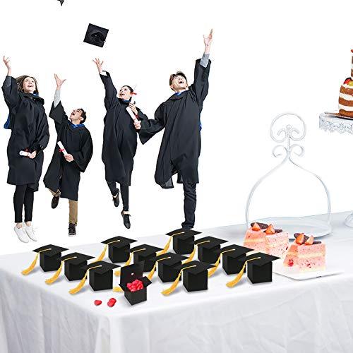 KATOOM 30pcs Caja Dulce disfrace graduación Gorro de Caja Papel de Regalo en Fiesta Ceremonia Divertida