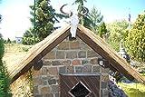 Wilai Palmendächer Strohdach Palmdach Paneele Palmschindel Palmenblätter 145 cm Reetdach für Garten, Balkon und Terrasse - 2