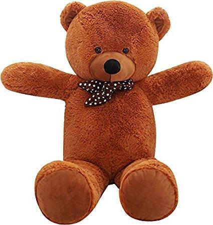 Shaik® XL Kuschel-Teddybär groß in Braun und Weiss - TÜV SÜD geprüft - Plüschbär Teddy Kuscheltier Stofftier (120 cm )