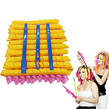 2020 New 20 Pack Magic Hair Curlers No Heat Hair Roller Curling Rods Set Spiral Curls Styling Kit Styling Hooks DIY Hair Styling Roller Perm Tool Set for Long Hair up to 26 inch  65 cm  Long Hair