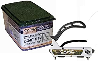 Camo 1750-Pro Pack 2 3/8 inch - 1750 Count Screws and Marksman Pro Fastening Tool
