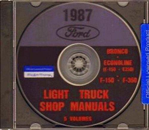 THE ABSOLUTE BEST 1987 FORD TRUCK, BRONCO, VAN & PICKUP FACTORY REPAIR SHOP & SERVICE MANUAL CD F-150, F-250, F-350 87