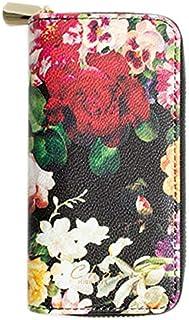 マイブルー ケース myblu 専用ケース 花柄 コンパクト PUレザー カバー たばこカプセル 本体 カートリッジ収納 (black(ブラック))