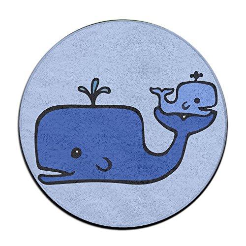 Bébé Baleine antidérapant Tapis Circulaire Tapis de Moquette Salle à Manger Chambre à Coucher Tapis Tapis de Sol 59,9 cm