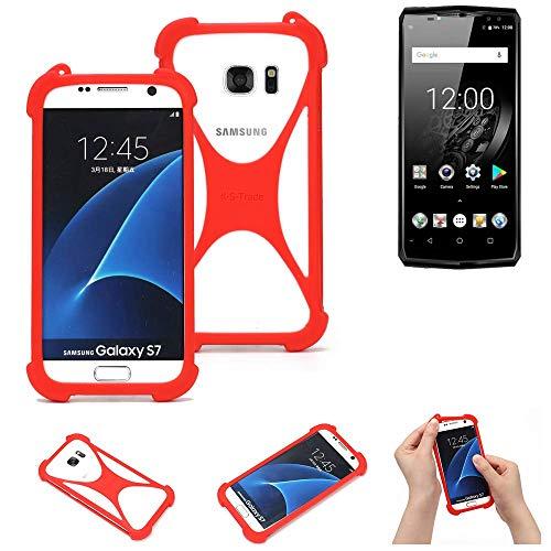 K-S-Trade® Handyhülle Für Oukitel K10 Schutzhülle Bumper Silikon Schutz Hülle Cover Case Silikoncase Silikonbumper TPU Softcase Smartphone, Rot (1x)
