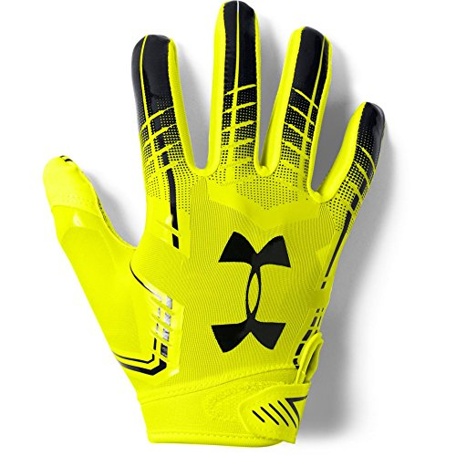 Under Armour boys F6 Youth Football Gloves High-Vis Yellow (731)/Black Youth Large