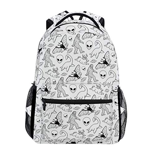 Daypack List of Cryptids Casual Shoulder Bag Bookbag Unique Travel College School Gift Lightweight Backpack Printed Stylish Student Durable