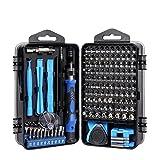 Set Destornillador 138/115/112 en 1 Magnético Torx Phillips Tornillo Kit de bits de Tornillo con Destornilladores eléctricos Llave de reparación Teléfono PC Herramientas (Color : 138 Blue)