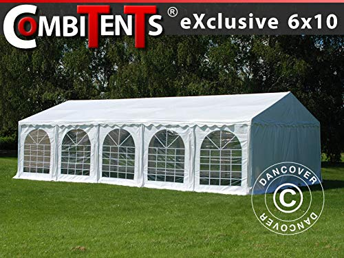 Dancover Partytent, Exclusive CombiTents® 6x10m, 3-in-1, Wit