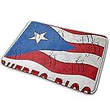 Love girl Bandera de Puerto Rico Puertorriqueña Entrada Retro Felpudo Baño Piso Hogar Alfombra Antideslizante Oficinas Alfombra Cocina Baño Decoración de alfombras 80x50 cm
