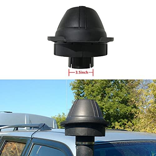 JHCHAN Cabeza de tubo universal para coche todoterreno, mudding entrada de aire, cabeza de Ram entrada de flujo de aire para 4 × 4 Off Road Pick-up 4WD 2WD (3.5 pulgadas)