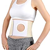 WE&ZHE Elastic Ostomy Hernia Belt for Waist Abdominal with Breathable Stoma Opening,Ostomy Belt,Colostomy Belt,Abdominal Binder Brace Abdomen Band Stoma Support,L