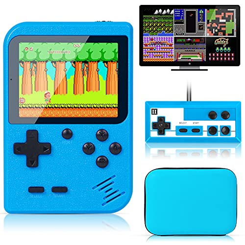 Retro Handheld Game Console with Protector Case, 400 Free Classical FC Games Support for Connecting...