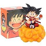 Dragon Ball Z Son Goku Figura De Acción Kakarotto con Voltereta Nube Dragonball Goku Juguetes De Modelo Infantil Regalo para Niños 18Cm