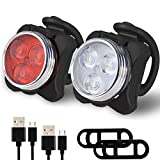 Balhvit Bike Light Set, Super Bright USB Rechargeable Bicycle Lights, IPX4 Waterproof Mountain Road Bike Lights Rechargeable Front Light & Rear Light