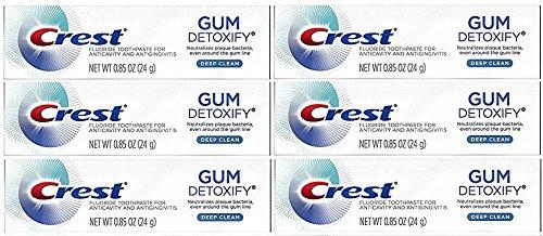 Crest Gum Detoxify Toothpaste, Deep Clean, Travel Size, 6 Pack Each 0.85 oz (24g)