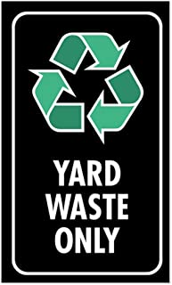 CafePress Yard Waste Only Sticker (Black W/Symbol) Rectangle Bumper Sticker Car Decal
