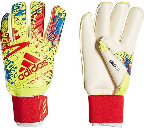 adidas Classic Pro Gc Goalkeeper Handschuhe, Unisex, Erwachsene, Solar Yellow/Active Red/Football Blue, 8