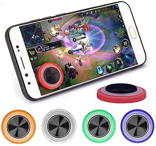 GOW 2 x Universal Joystick für Handy, Smartphone oder Tablet. Bessere Steuerung, einfache Handhabung. Geeignet für alle Modelle (iPhone, Samsung und Co.) (Transparent)