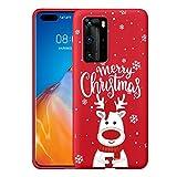 Yoedge Navidad Funda para Huawei Honor Play 20 (4G) 6,52',Carcasa Rojo Silicona con Dibujos Animados Diseño,Suave Ultrafina Antigolpes TPU Bumper Protector Case Fundas para Honor Play 20 4G,Ciervo 6
