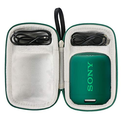 Khanka Duro Viaje Estuche Bolso Funda para Sony SRS-XB12 RAltavoz inalámbrico portátil (Zip Vert)