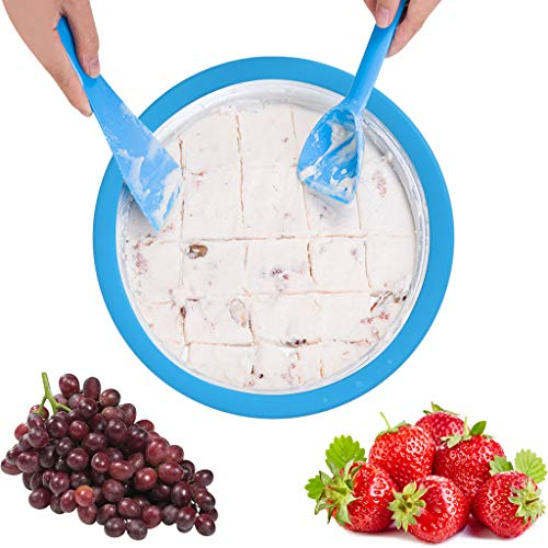 New AutumnFall Instant Ice Cream Maker Yogurt Frozen Pan Ice Roll Time Pan US Stock Machine for Kids...