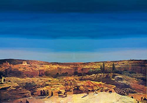 De Sisinno Fondale per presepe Paesaggio Arabo 100x70 cm