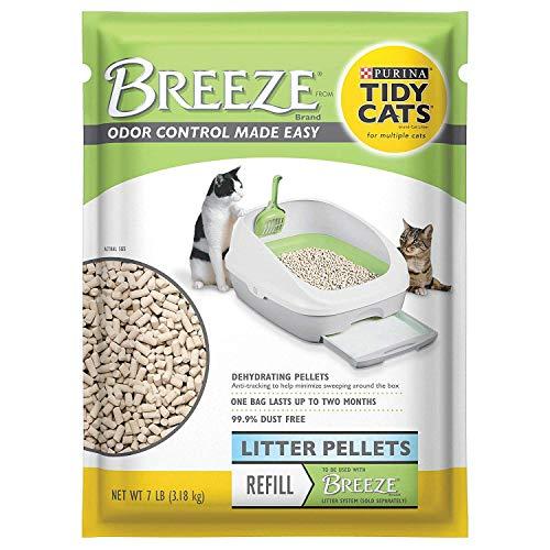 pellet cat litter boxes Tidy Cats Breeze Cat Litter Pellets - 3.5 lbs (7 LBS.)
