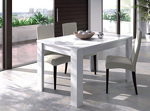 EGLEMTEK Tavolo da Pranzo Allungabile Fino a 190 cm Toledo Tavolino Consolle Salotto Salone 190 x 78 x 90 cm Colore Bianco