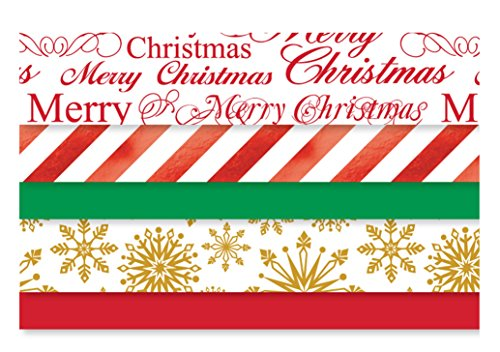 Tissue Paper with Foil Metallic Accents with Christmas Prints - 102 Sheets