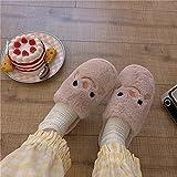 Zapatillas De Andar por Casa Hombre,Zapatillas De AlgodóN Sonriente, OtoñO Femenino E Invierno Interior Sin Deslizamiento, Defertia, Agotado, Zapatos De Deslizamiento De Pelo-36-37_mi