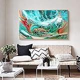 N / A Pintura sin Marco Azul océano Abstracto Arte de la Pared mar Pintura al óleo Lienzo Moderno Artista de la Pared decoración del hogarZGQ6851 60x105cm