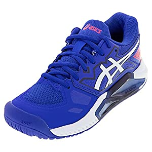 ASICS Women's Gel-Challenger 13 Tennis Shoes, 8.5, Lapis Lazuli Blue/White