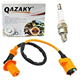 QAZAKY Compatible with Ignition Coil Spark Plug XR50 XR70 XR80 XR100 CRF50 CRF70 CRF80 CRF100 Pit Dirt Racing Bike Scooter Motorcycle ATV