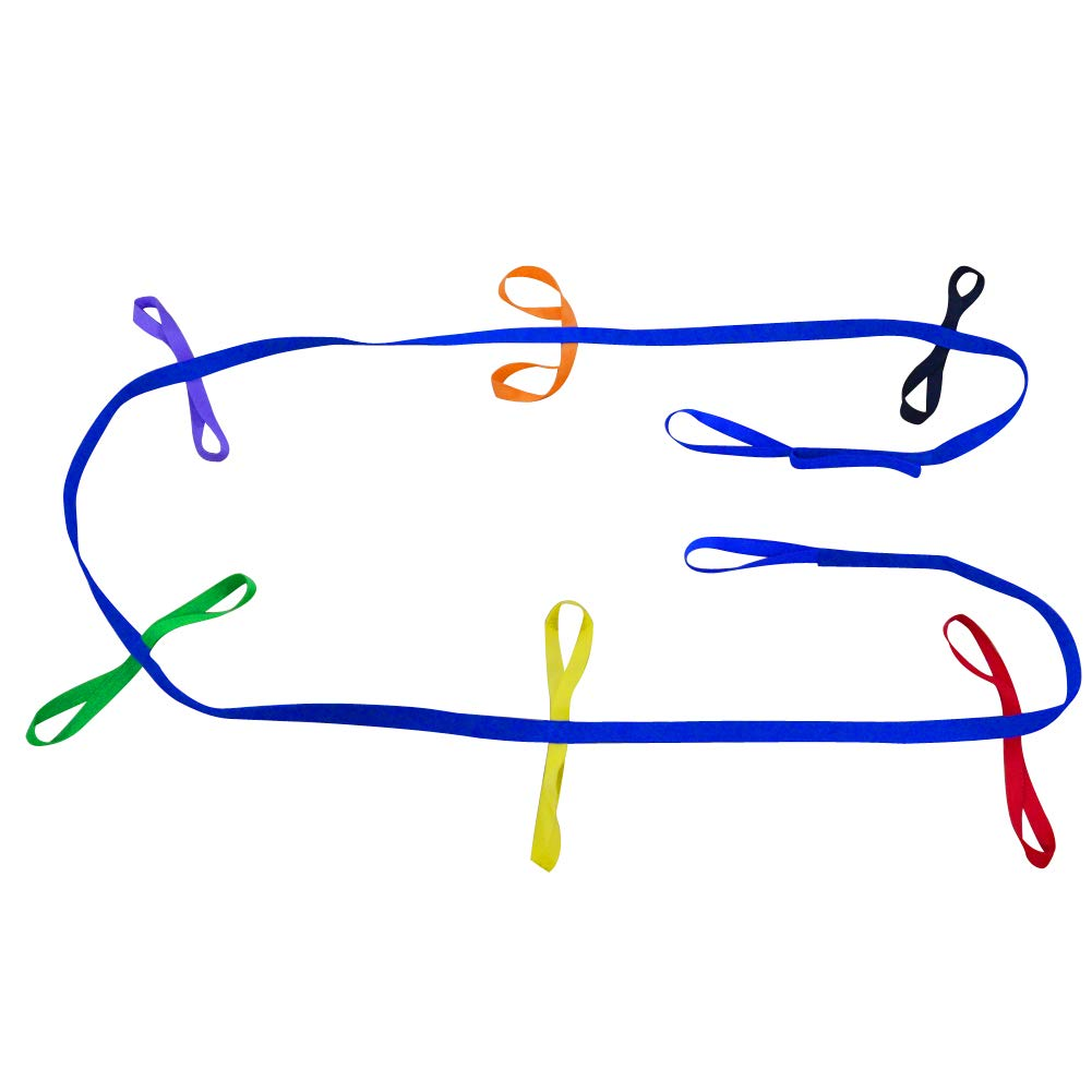 Walking Rope for Preschool - Colorful Handles Keeps Kids Safe - Perfect for Daycare Schools and Teachers -Toddlers Walking Rope,Child Daycare Safety Rope (12 Loops & 3 Loops) (12 Loops)
