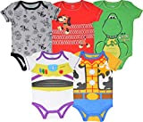 Disney Pixar Toy Story Baby Boy 5 Pack Bodysuit Buzz Lightyear Woody Rex Slinky Dog 12M