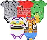 Disney Pixar Toy Story Baby Boy 5 Pack Bodysuit Buzz Lightyear Woody Rex Slinky Dog 3-6M