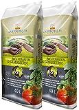 Floragard Kleeschulte Bio Tomaten und Gemüseerde 2x40 L • torffrei • 65% Klimavorteil • 80 L