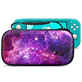 VORI Carrying Case for Nintendo Switch Lite 2019, Portable Protective Hard Shell with 8 Game Cartridges for Nintendo Switch Lite Console & Accessories Kit, Galaxy